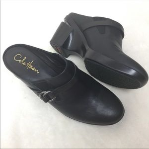 Cole Haan Shoes - Cole Haan Nike Air Shelly Wedge Mules Black SZ. 8